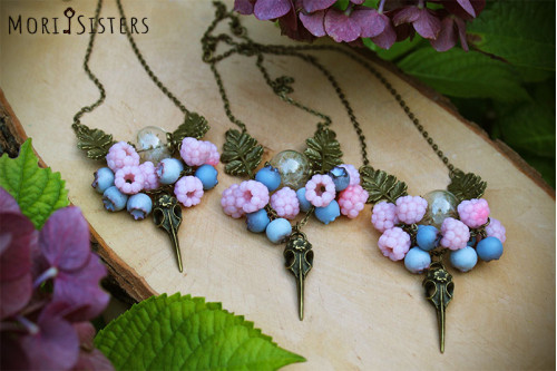 Berry fairy necklace