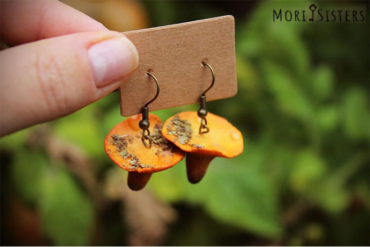 Chanterelles earrings