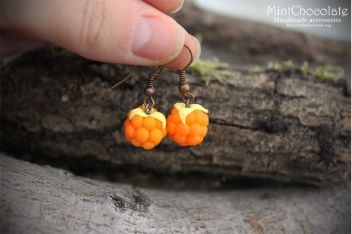 Cloudberry earrings