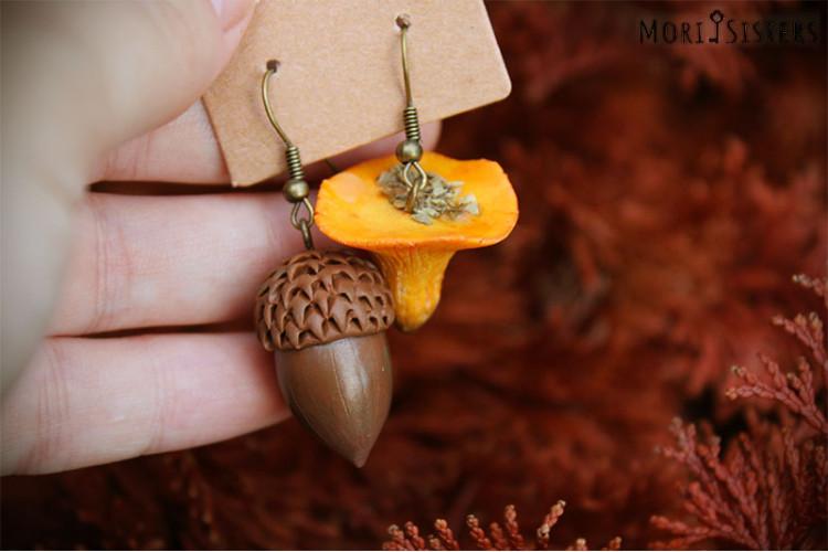 Acorn&Mushroom earrings
