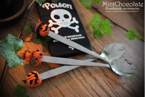 Halloween dessert spoons