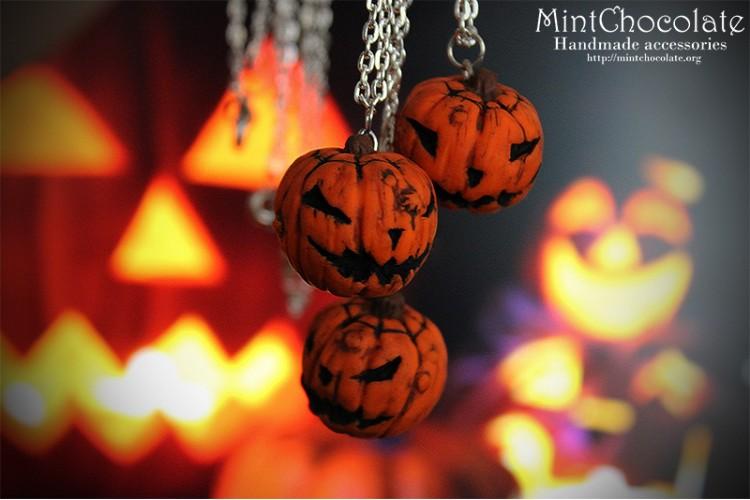 Jack-o-Lantern pendants
