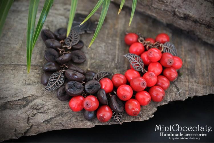 Coffee beans bracelet
