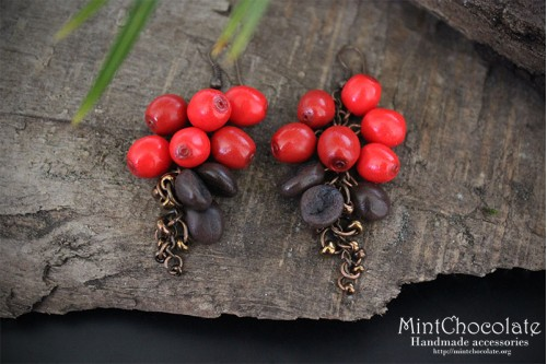 Coffee beans earrings 2