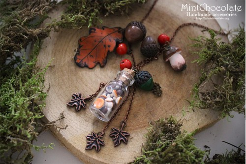 Autumn treasures pendant