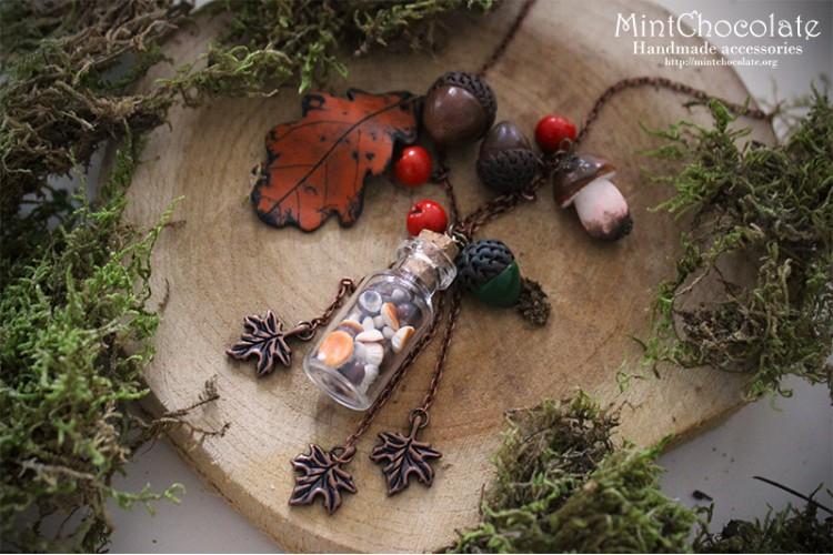 Autumn treasures pendant