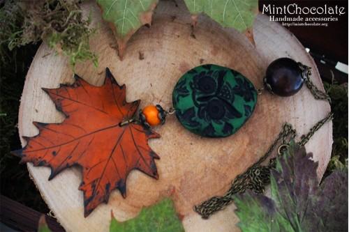 Maple owl pendant