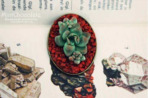Desert rose brooch
