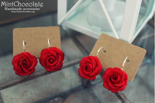 Red roses earrings2