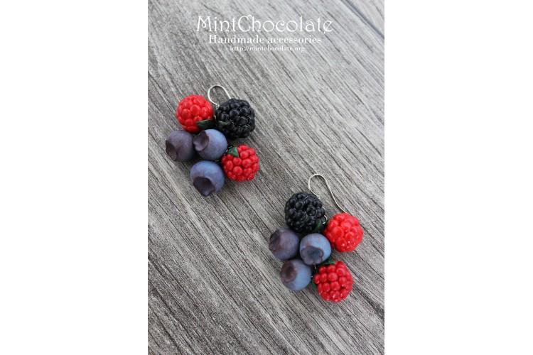 Berries mix earrings