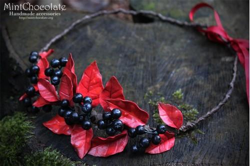 Black rowanberry hairband
