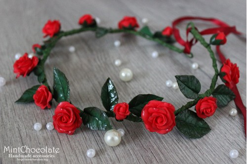 Red roses hairband