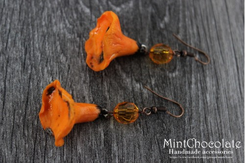 Chanterelles earrings