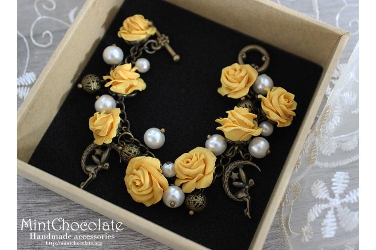Yellow roses bracelet