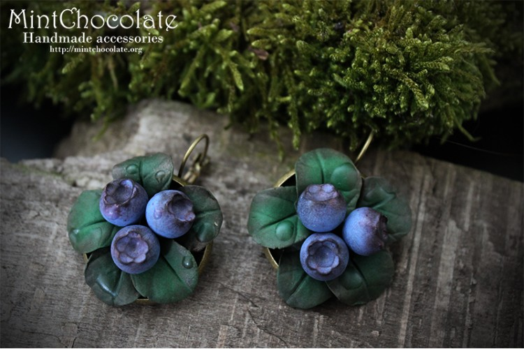 Forest blueberry earrings