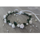 White roses hairband