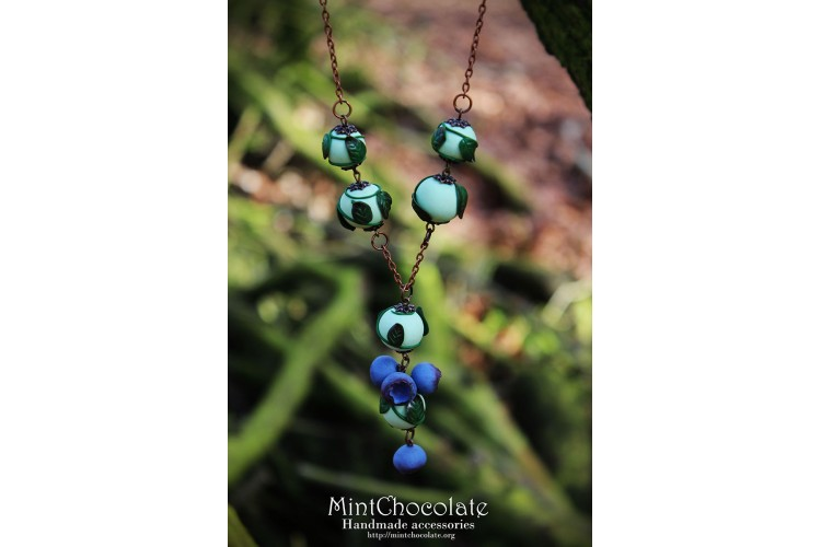 Wild blueberry pendant