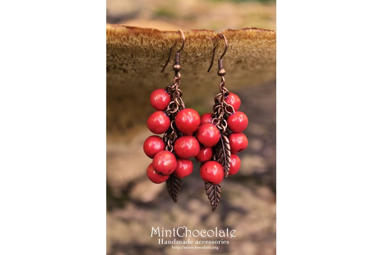 Rowanberries earrings